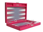 Hector Saxe Faux Lizard Travel Backgammon Set - Fuchsia