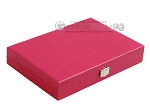 picture of Hector Saxe Faux Lizard Travel Backgammon Set - Fuchsia (12 of 12)