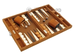 picture of Hector Saxe Suede Leather Travel Backgammon Set - Havana (2 of 12)