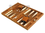 picture of Hector Saxe Suede Leather Travel Backgammon Set - Havana (3 of 12)
