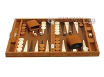picture of Hector Saxe Suede Leather Travel Backgammon Set - Havana (4 of 12)