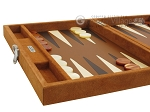 picture of Hector Saxe Suede Leather Travel Backgammon Set - Havana (5 of 12)