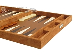 picture of Hector Saxe Suede Leather Travel Backgammon Set - Havana (6 of 12)