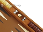 picture of Hector Saxe Suede Leather Travel Backgammon Set - Havana (9 of 12)
