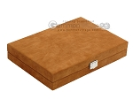 picture of Hector Saxe Suede Leather Travel Backgammon Set - Havana (12 of 12)