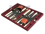 picture of Hector Saxe Suede Leather Travel Backgammon Set - Maroon (3 of 12)