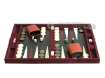 picture of Hector Saxe Suede Leather Travel Backgammon Set - Maroon (4 of 12)
