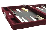 picture of Hector Saxe Suede Leather Travel Backgammon Set - Maroon (5 of 12)