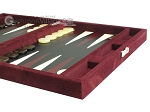 picture of Hector Saxe Suede Leather Travel Backgammon Set - Maroon (6 of 12)