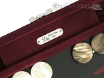 picture of Hector Saxe Suede Leather Travel Backgammon Set - Maroon (7 of 12)