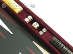 picture of Hector Saxe Suede Leather Travel Backgammon Set - Maroon (9 of 12)