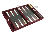 picture of Hector Saxe Suede Leather Travel Backgammon Set - Maroon (10 of 12)