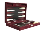 picture of Hector Saxe Suede Leather Travel Backgammon Set - Maroon (11 of 12)
