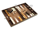 picture of Hector Saxe Faux Lizard Travel Backgammon Set - Brown (2 of 12)