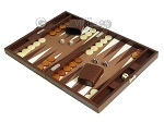 picture of Hector Saxe Faux Lizard Travel Backgammon Set - Brown (3 of 12)
