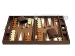 picture of Hector Saxe Faux Lizard Travel Backgammon Set - Brown (4 of 12)