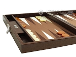 picture of Hector Saxe Faux Lizard Travel Backgammon Set - Brown (5 of 12)