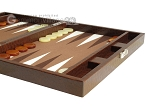 picture of Hector Saxe Faux Lizard Travel Backgammon Set - Brown (6 of 12)