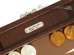 picture of Hector Saxe Faux Lizard Travel Backgammon Set - Brown (7 of 12)
