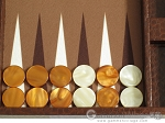 picture of Hector Saxe Faux Lizard Travel Backgammon Set - Brown (8 of 12)