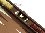 picture of Hector Saxe Faux Lizard Travel Backgammon Set - Brown (9 of 12)
