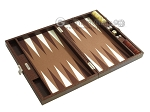 picture of Hector Saxe Faux Lizard Travel Backgammon Set - Brown (10 of 12)