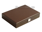 picture of Hector Saxe Faux Lizard Travel Backgammon Set - Brown (12 of 12)