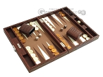 picture of Hector Saxe Faux Croco Travel Backgammon Set - Brown (2 of 12)