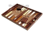 picture of Hector Saxe Faux Croco Travel Backgammon Set - Brown (3 of 12)