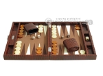 picture of Hector Saxe Faux Croco Travel Backgammon Set - Brown (4 of 12)