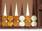 picture of Hector Saxe Faux Croco Travel Backgammon Set - Brown (8 of 12)
