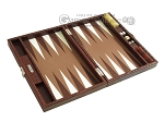 picture of Hector Saxe Faux Croco Travel Backgammon Set - Brown (10 of 12)