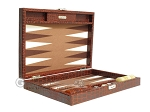 picture of Hector Saxe Faux Croco Travel Backgammon Set - Brown (11 of 12)