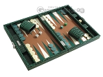 picture of Hector Saxe Faux Croco Travel Backgammon Set - Emerald Green (2 of 12)