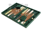 picture of Hector Saxe Faux Croco Travel Backgammon Set - Emerald Green (3 of 12)