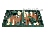 picture of Hector Saxe Faux Croco Travel Backgammon Set - Emerald Green (4 of 12)