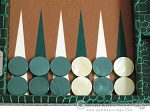 picture of Hector Saxe Faux Croco Travel Backgammon Set - Emerald Green (8 of 12)