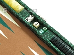 picture of Hector Saxe Faux Croco Travel Backgammon Set - Emerald Green (9 of 12)