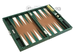 picture of Hector Saxe Faux Croco Travel Backgammon Set - Emerald Green (10 of 12)