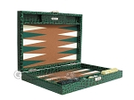 picture of Hector Saxe Faux Croco Travel Backgammon Set - Emerald Green (11 of 12)