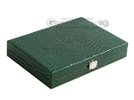 picture of Hector Saxe Faux Croco Travel Backgammon Set - Emerald Green (12 of 12)