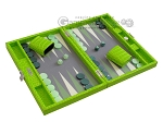 picture of Hector Saxe Faux Croco Travel Backgammon Set - Flashy Green (2 of 12)