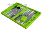 picture of Hector Saxe Faux Croco Travel Backgammon Set - Flashy Green (3 of 12)