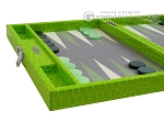 picture of Hector Saxe Faux Croco Travel Backgammon Set - Flashy Green (5 of 12)