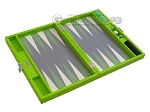 picture of Hector Saxe Faux Croco Travel Backgammon Set - Flashy Green (10 of 12)