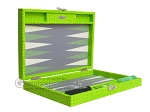 picture of Hector Saxe Faux Croco Travel Backgammon Set - Flashy Green (11 of 12)