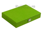 picture of Hector Saxe Faux Croco Travel Backgammon Set - Flashy Green (12 of 12)