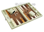 picture of Hector Saxe Faux Croco Travel Backgammon Set - Ivory (2 of 12)