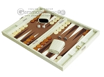 picture of Hector Saxe Faux Croco Travel Backgammon Set - Ivory (3 of 12)