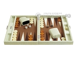 picture of Hector Saxe Faux Croco Travel Backgammon Set - Ivory (4 of 12)